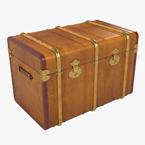 3D curved steamer trunk model