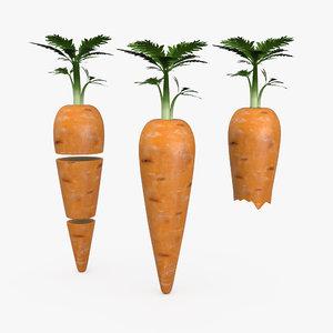 carrot complete slices bitten 3D model