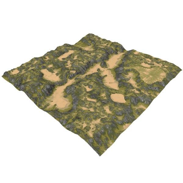 terrain maps 3D