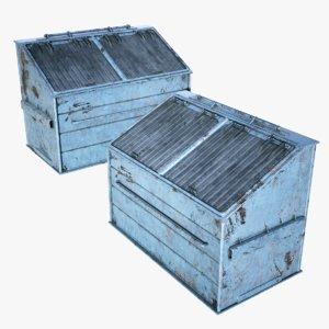 3D model bin container