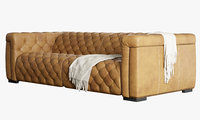 sofa v-ray brown 3D model