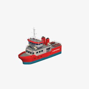 3D commuter ferry boat model