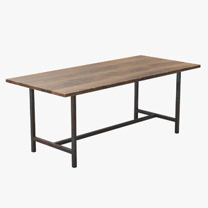 realistic industrial table 3D model