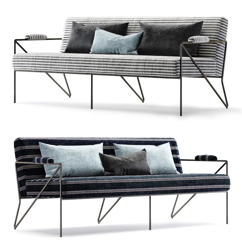 3D settee outdoor model