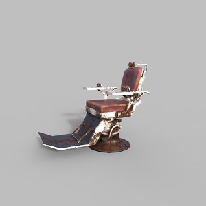 old hospital chair 3D model