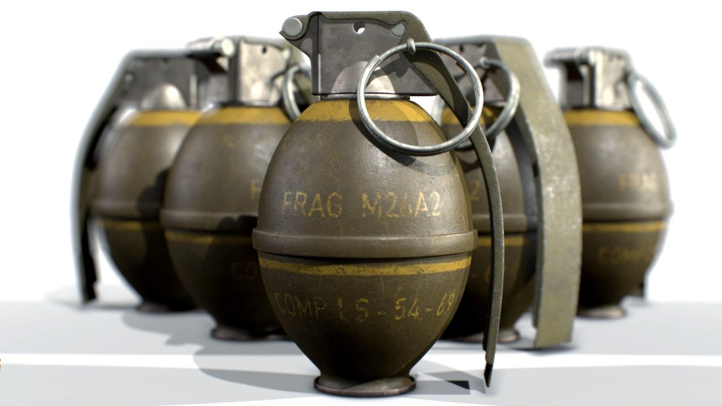american hand grenade frag 3D