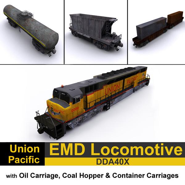 emd hopper 3D model