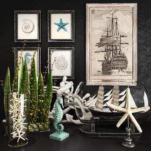 decorative set 39 3D model