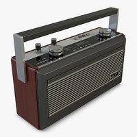 roberts r900 radio 3D model