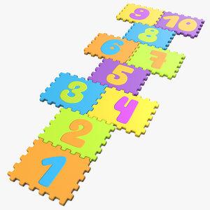puzzle hopscotch 3D model
