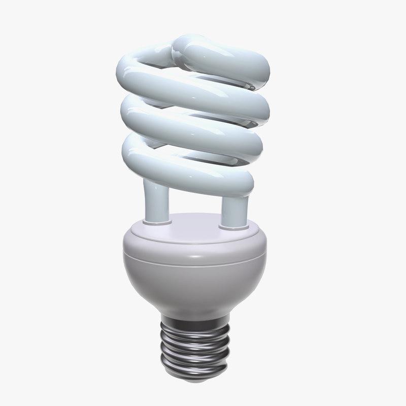 compact fluorescent light 3D model