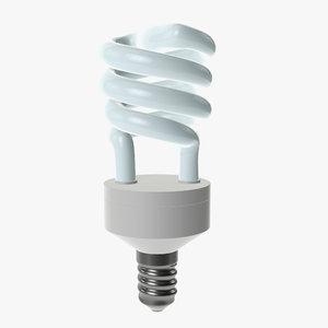3D compact fluorescent light model