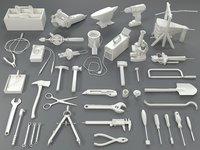 tools - 40 pieces 3D