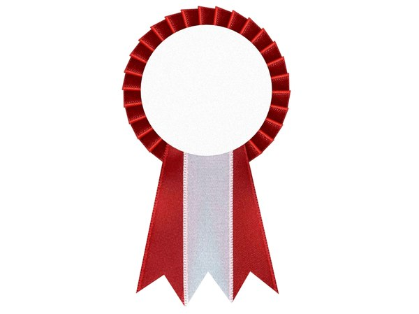 3D cockade ribbon rosette model