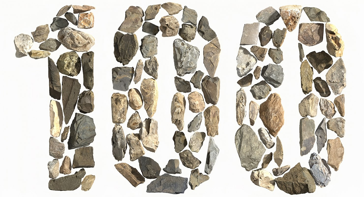 100 stone model
