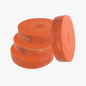 3D model carrot