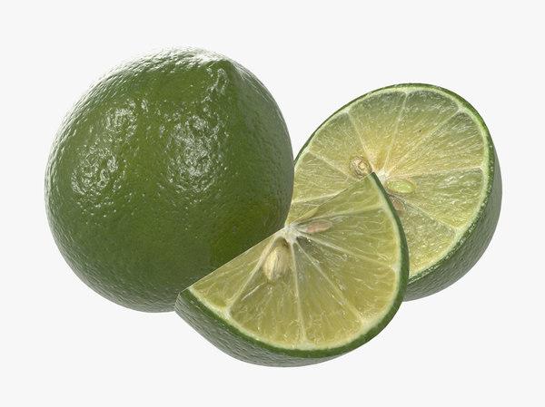 lime fruit citrus 3D model