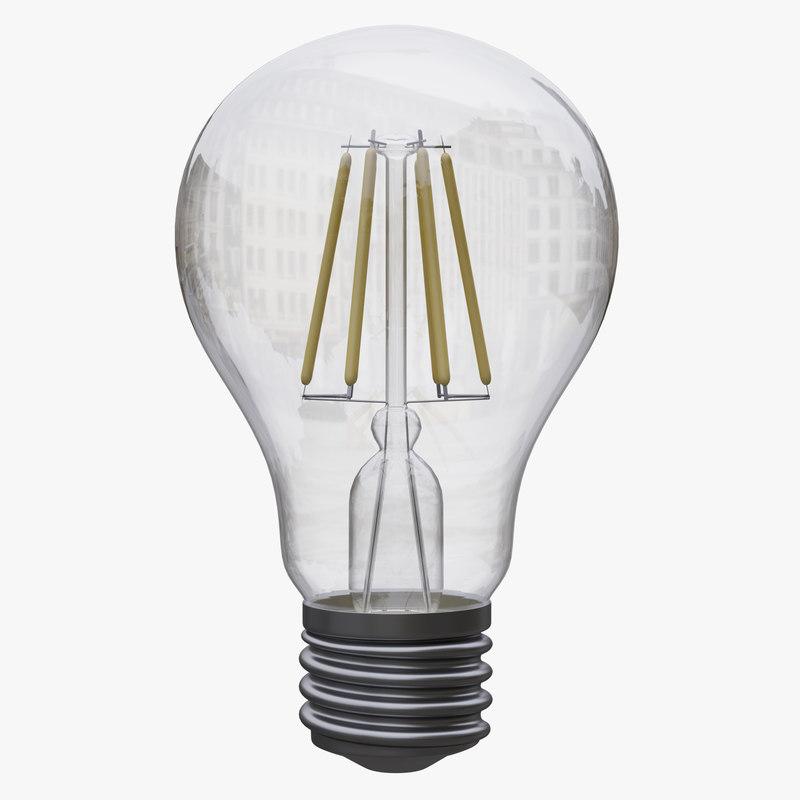 3D light bulb filament