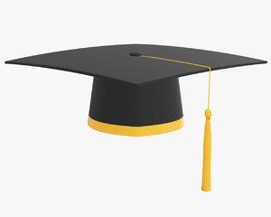 3D model graduation cap tassel