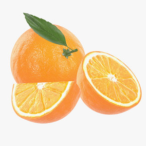 3D orange c model