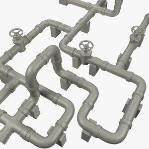 pipe pipeline industrial 3D model