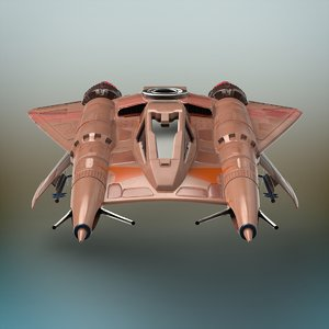 sci-fi fighter plane 3D