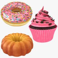 3D cake cupcake pink