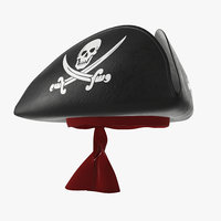 3D model hat pirate skull