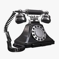 3D classic vintage phone
