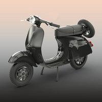 scooter motorcycle transportation 3D model