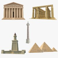 Ancient Monuments Collection 3D Model (2)