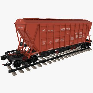 3D hopper car 19-3054-01 model