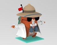 beaver cartoon explorer
