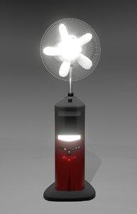 electronic standing fan 3D model