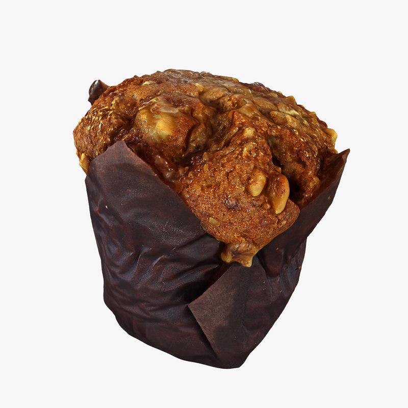 muffin cake cupcake 3D model