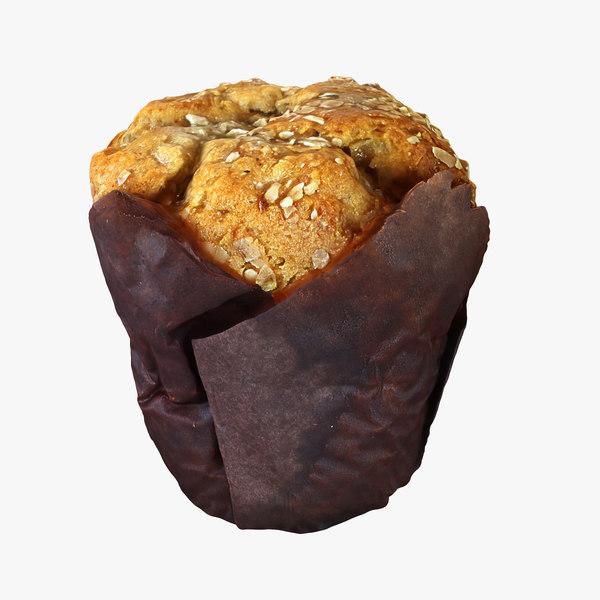 muffin cupcake cake 3D model