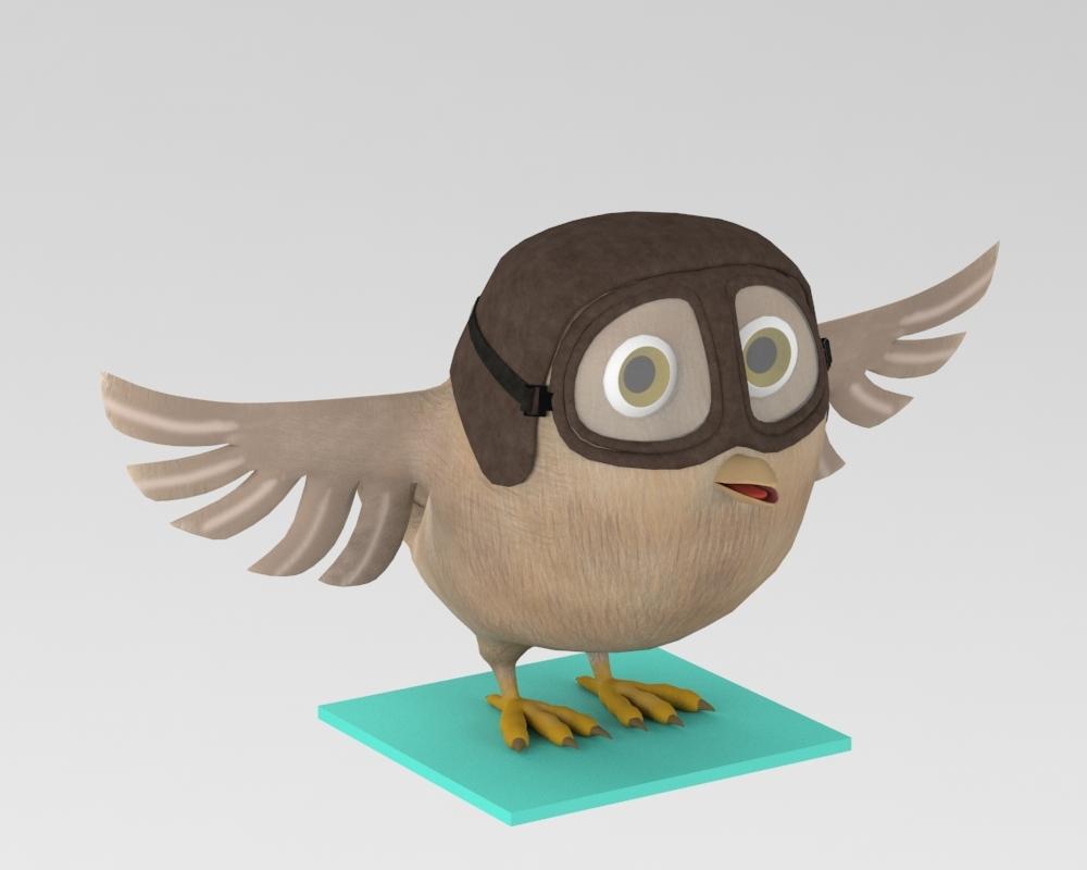 owl cartoon model