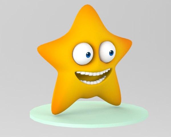 cartoon star 3D model