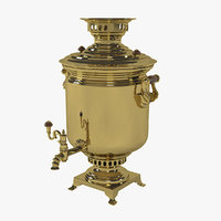 samovar traditionally boil 3D model