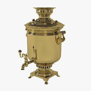 samovar traditionally boil 3D model