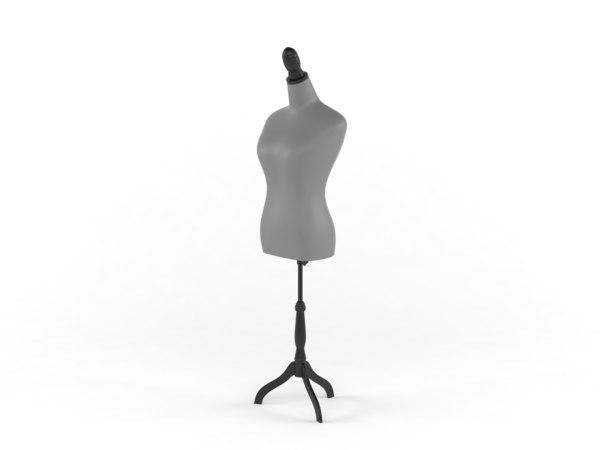 3D classic female mannequin form