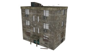 3D abandoned apartment model