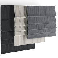 3D roman blinds set model