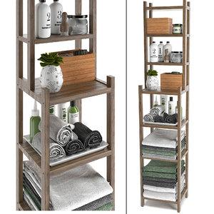 shelving unit bathroom ikea 3D model