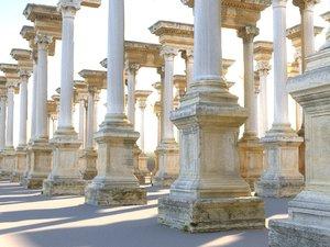 ancient pillar packed model