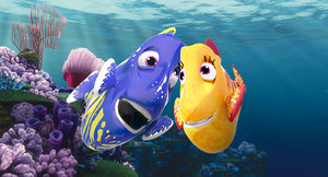 husbands fishes cartoon rigged 3D model