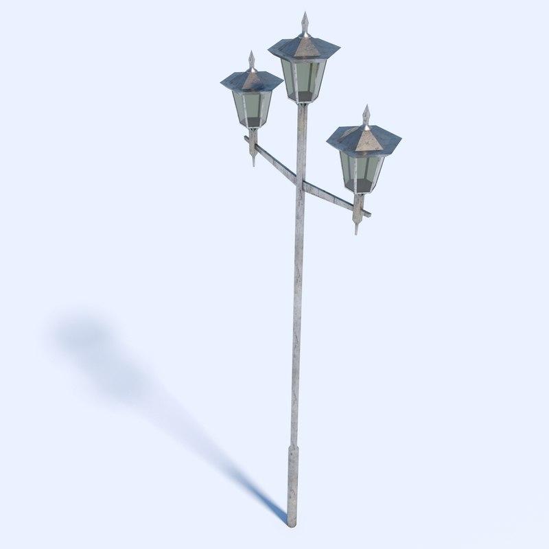 tokyo street lamp 3D model