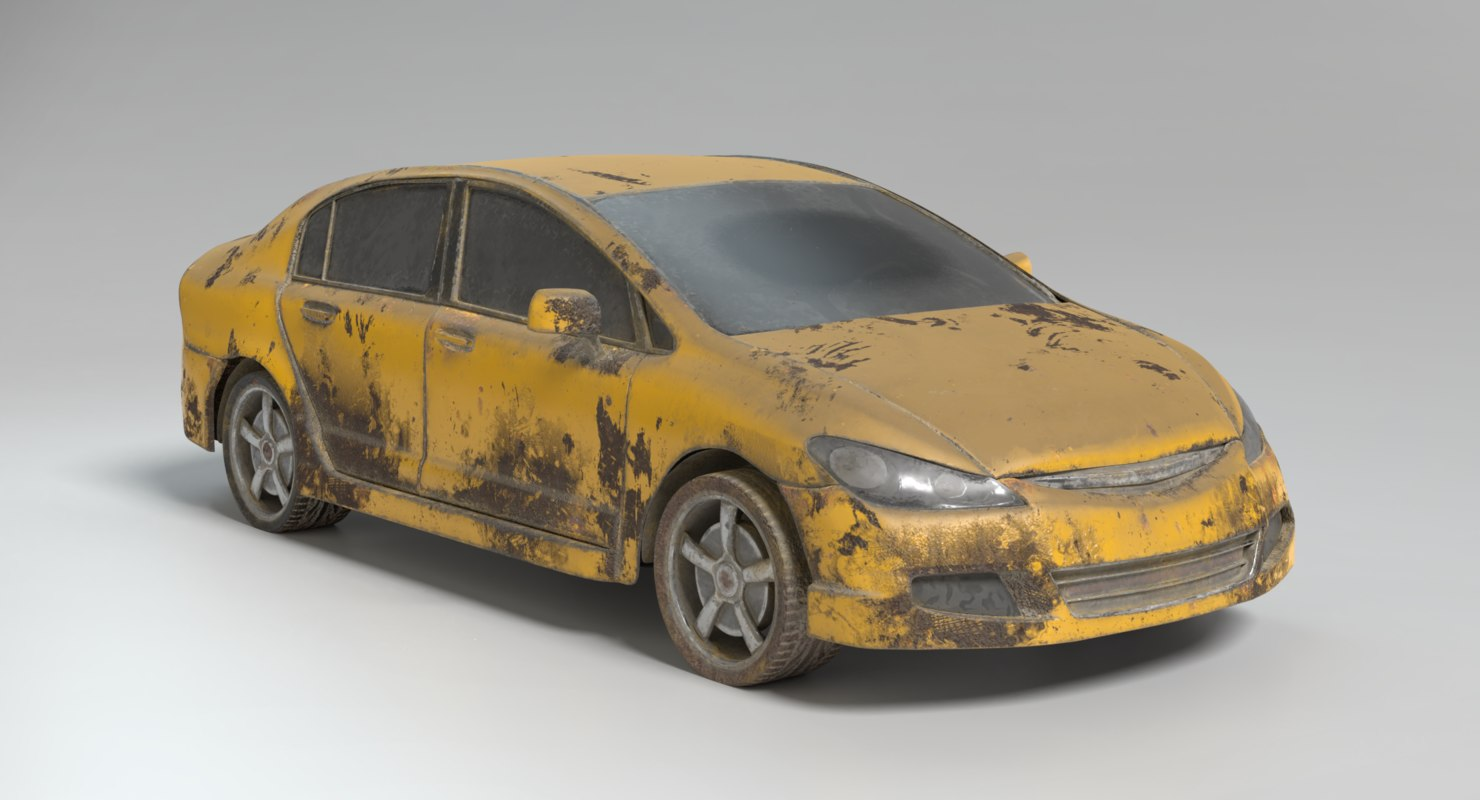 abandoned vehicles car 3D
