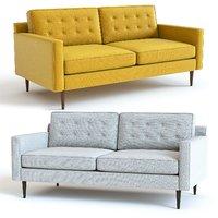 3D west elm drake sofa