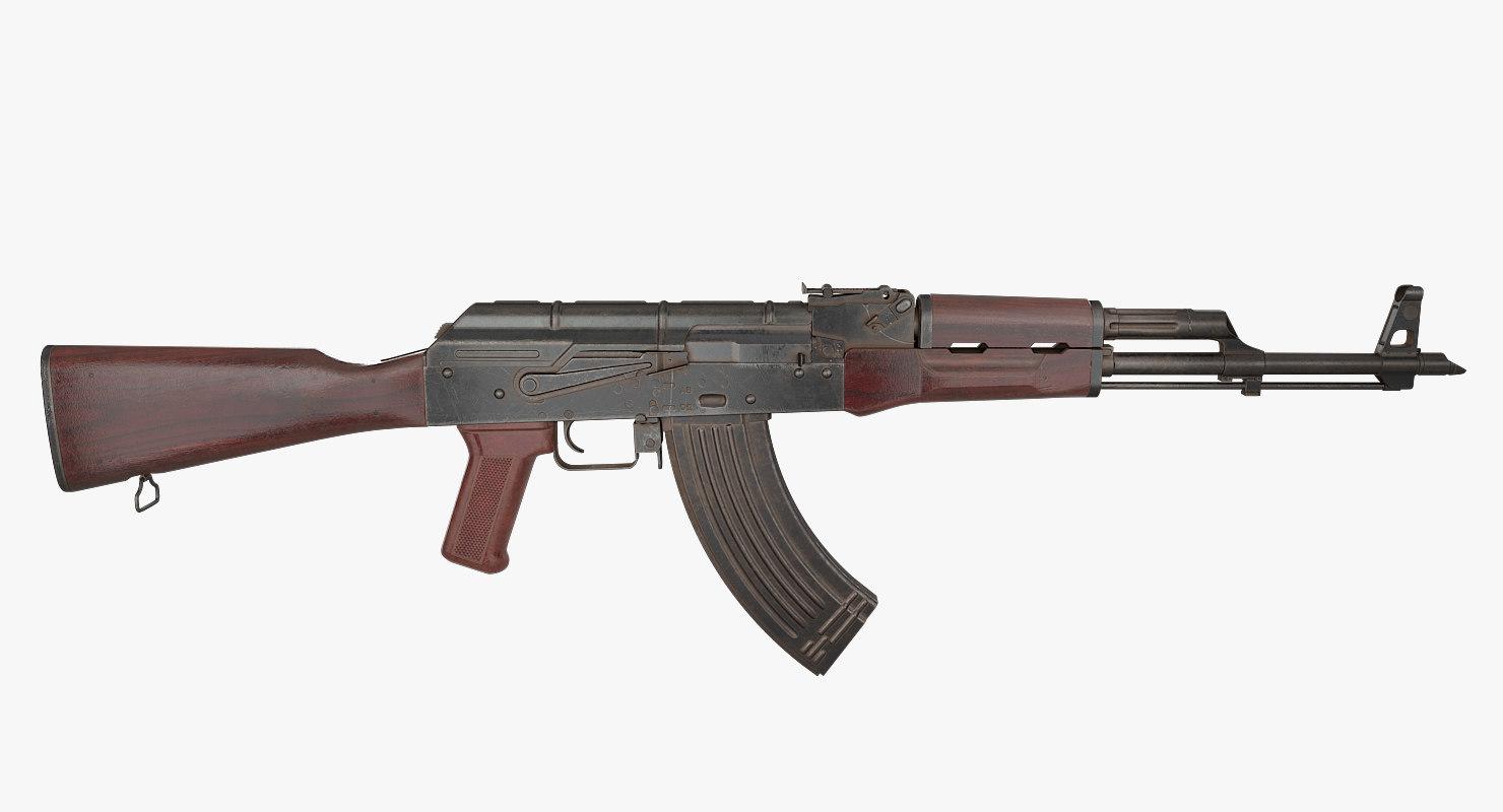 3D assault rifle akm model